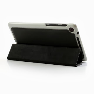 Tri-Fold Folio Stand Leather Case Cover for Asus Google Nexus 7(2013) II 2nd Generation - Black