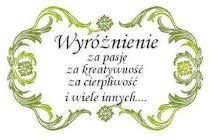Wyróżnienie od Iny:)