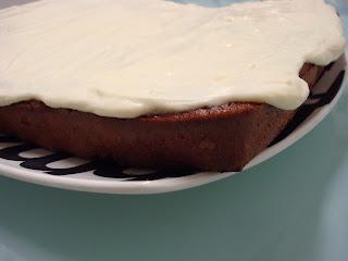 tarta zanahorias bizcocho frosting crema queso