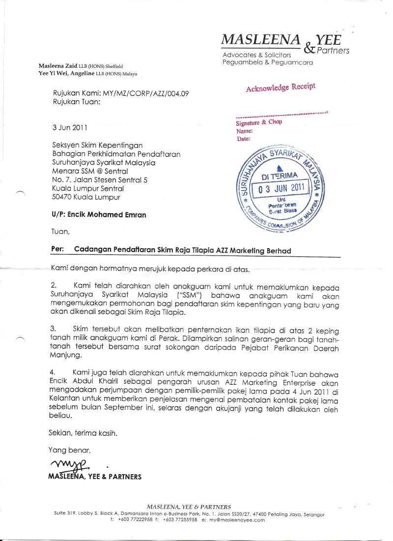 Surat Rasmi Permohonan Lesen Perniagaan Selangor W