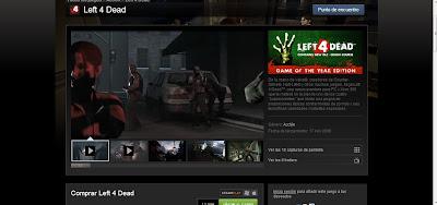 Left 4 Dead en Steam.