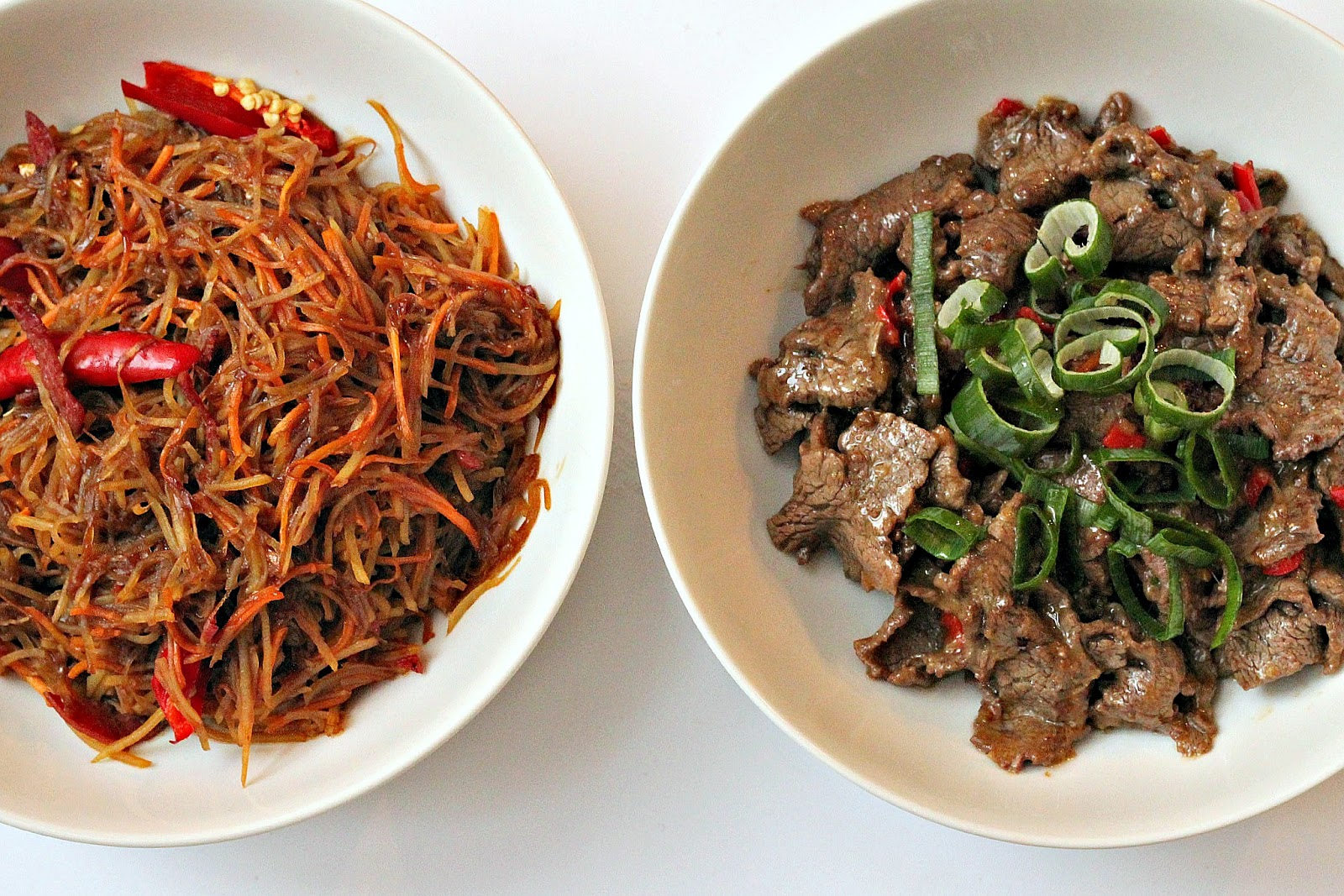 Milk and Honey: Hunan Beef with Cumin and Stir-Fried Shredded Potatoes