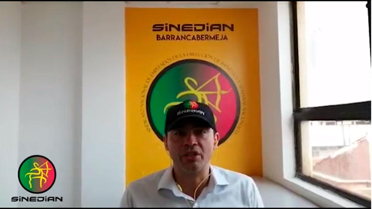 SINEDIAN conmemora la muerte del dirigente Gustavo Chacón