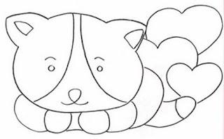 Risco para pintura de gatinha