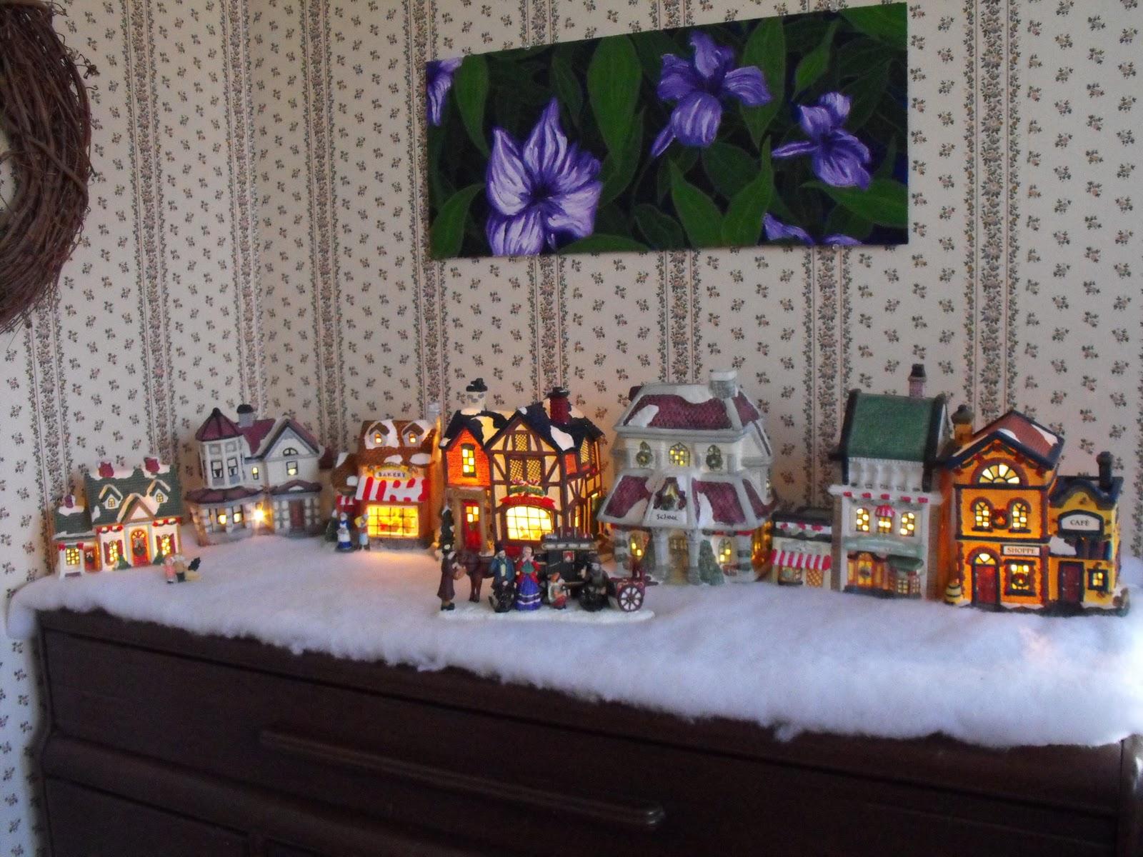 Renaissance Woman Christmas Village Decorations