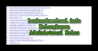Kumpulan File Administrasi lengkap keperluan Sekolah dan Kelas Tahun 2015-2016