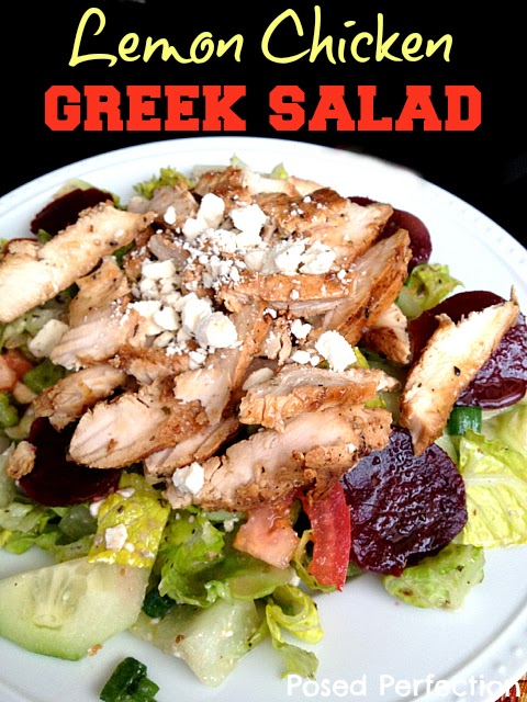 Lemon Chicken Greek Salad
