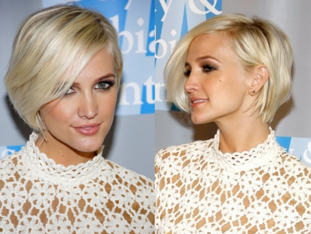 Ashlee simpson short hair back view