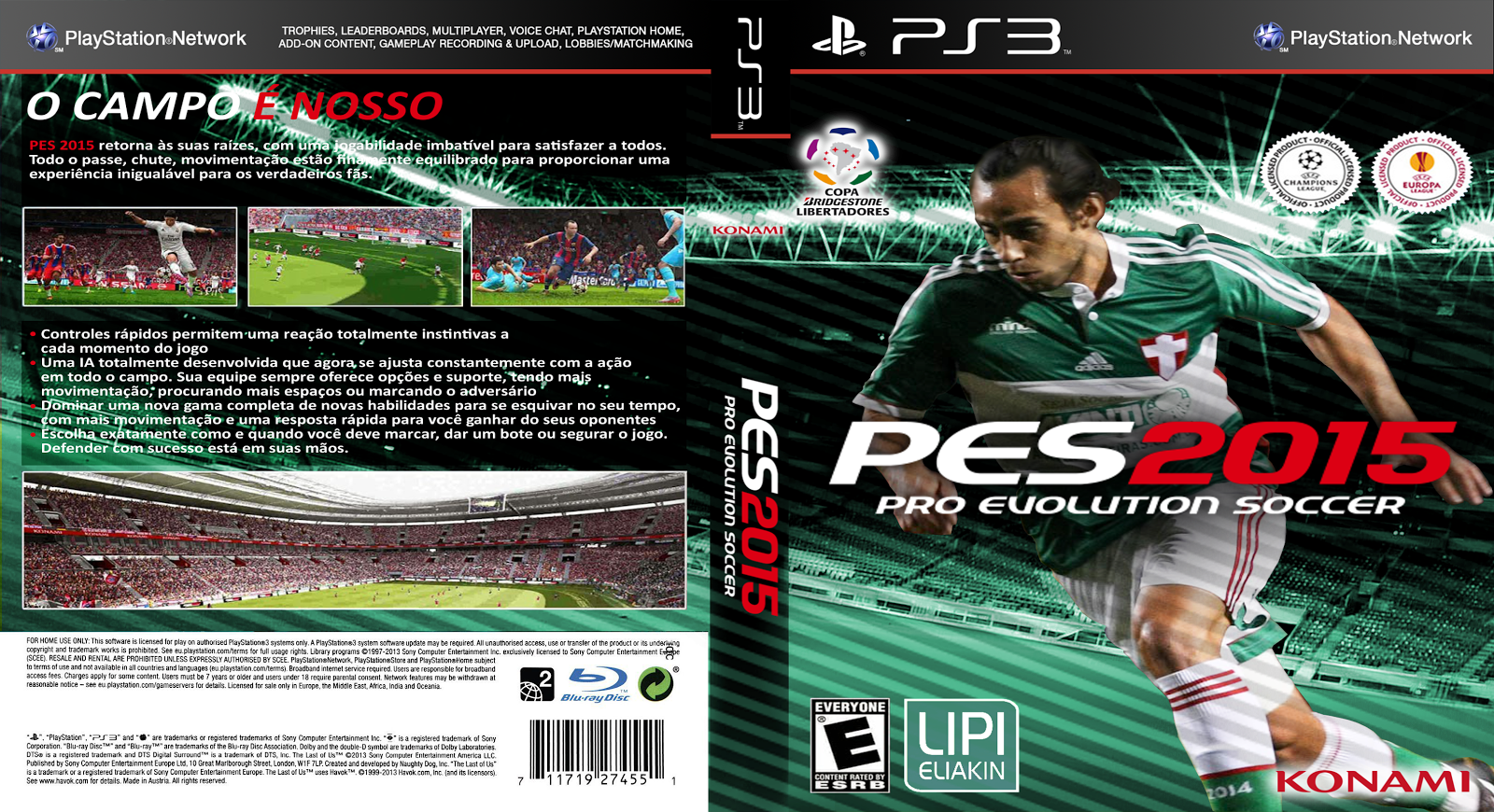 Capa PES 2015 PS3 [Exclusiva]