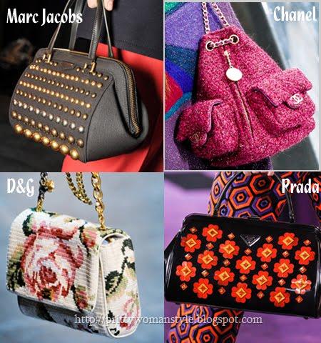 дамски чанти тенденции есен 2012