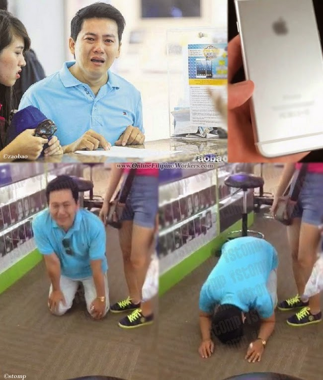 Horrifying Experience Tourist Kneels Down and Beg for an iPhone 6 Refund
