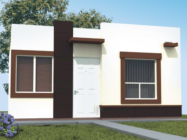 Fachadas mexicanas y estilo mexicano fachada de casa de for Fachadas para casas pequenas de una planta