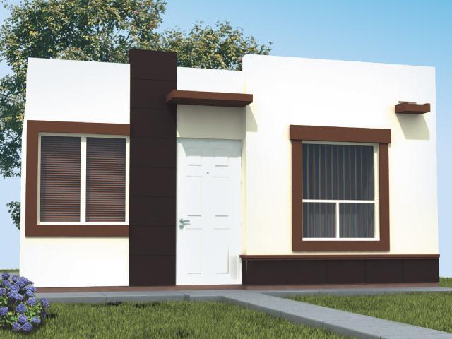 Fachadas mexicanas y estilo mexicano fachada de casa de - Casa minimalista una planta ...