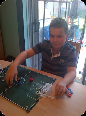 Jake playing the sports stars