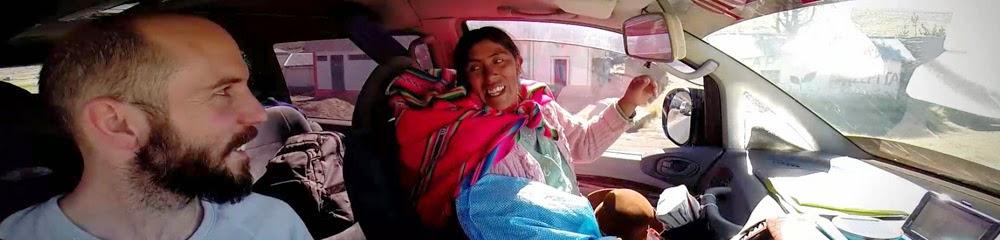 Grenzübertritt nach Bolivien in die Grossstadt La Paz
