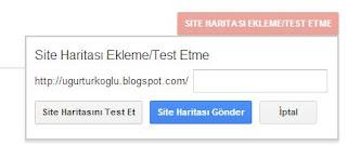 google webmaster site haritası oluşturma
