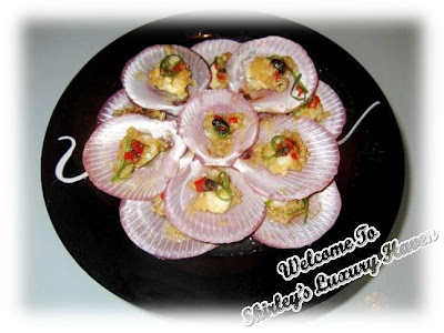 lovely steamed open shell scallops recipe