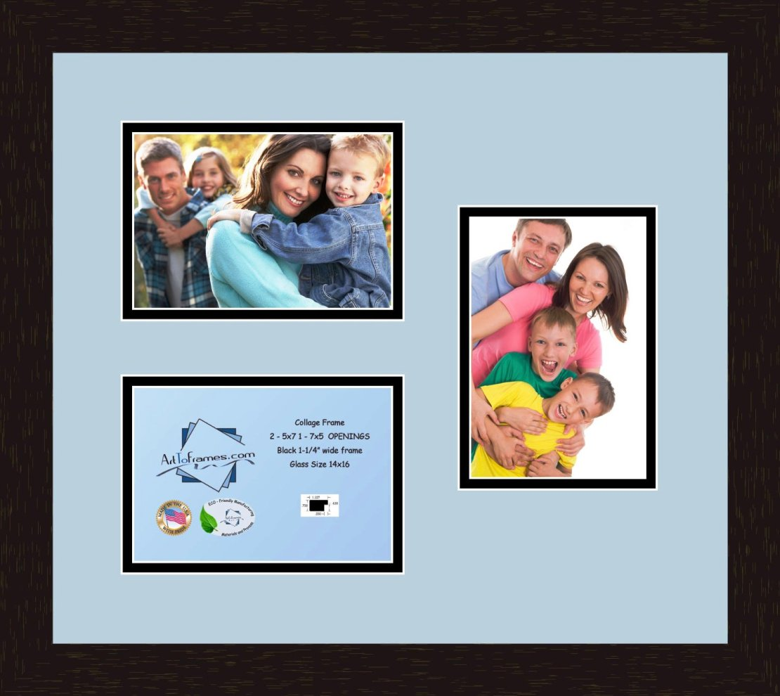 collage frame photo mat double mat with 1 14x11 and 2 11x14