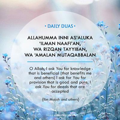Doa Harian Memohon Kebaikan Ilmu, Rezeki Dan Amalan