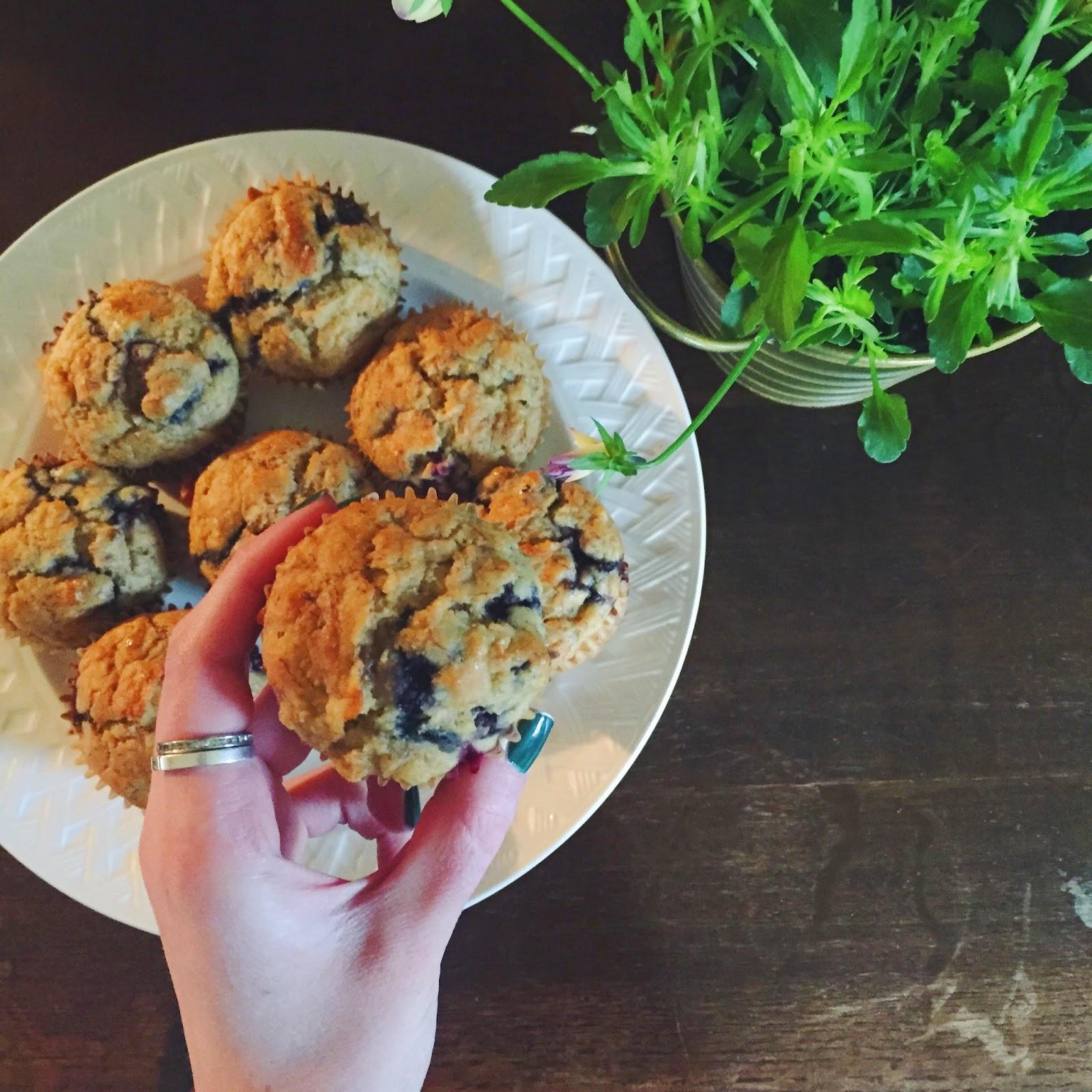 Cornmeal Muffins, Blueberry, Banana, Recipe, Snack