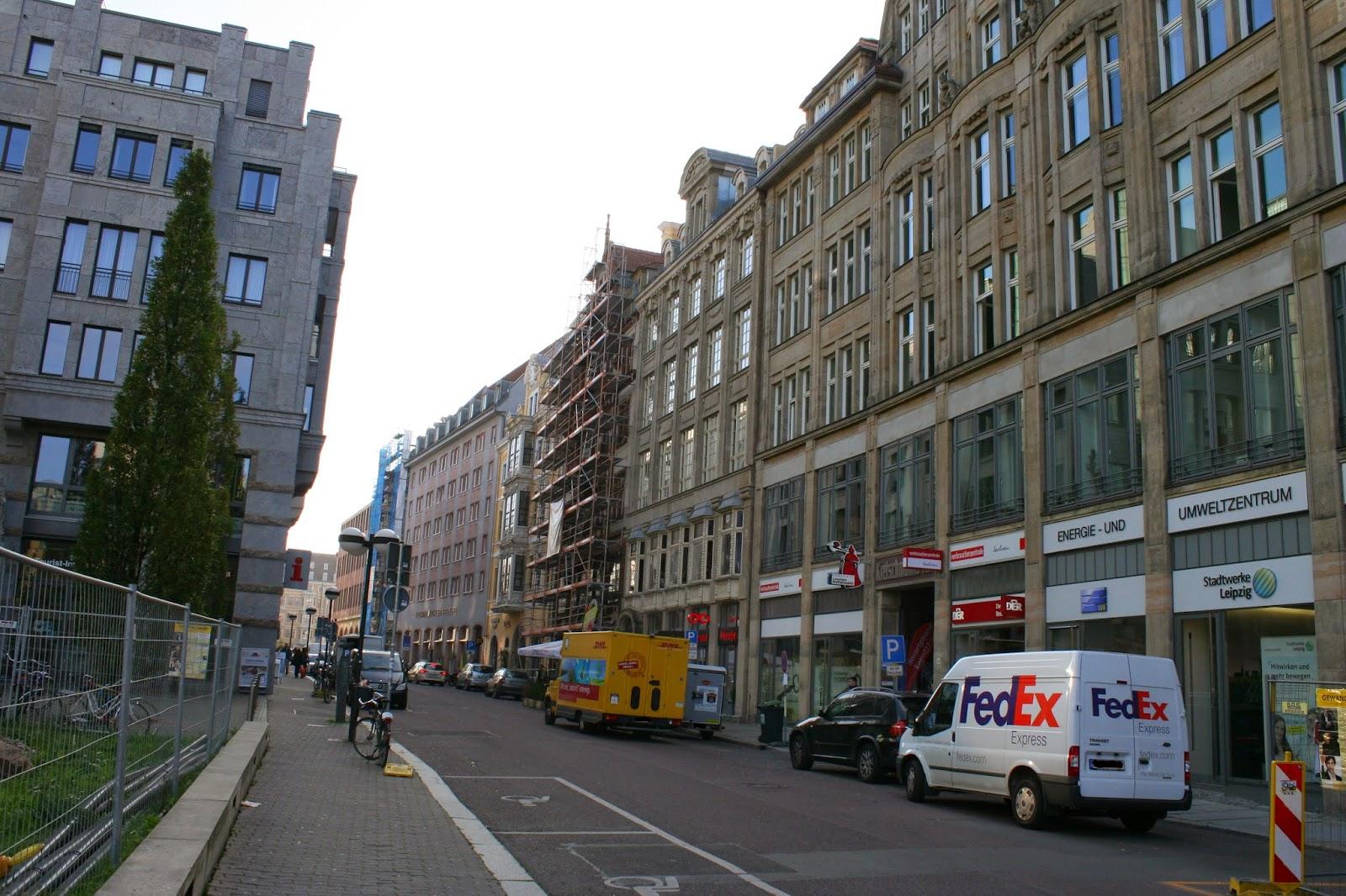 Katharinenstraße Blick in Richtung Markt - rechts das Fregehaus
