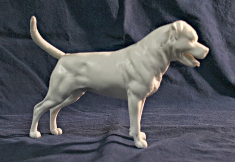 Rottweiler dog sculpture