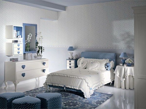 Home interior design ideas for the bedroom of teenage girls house interior decoration - Modern girls bedroom design ...