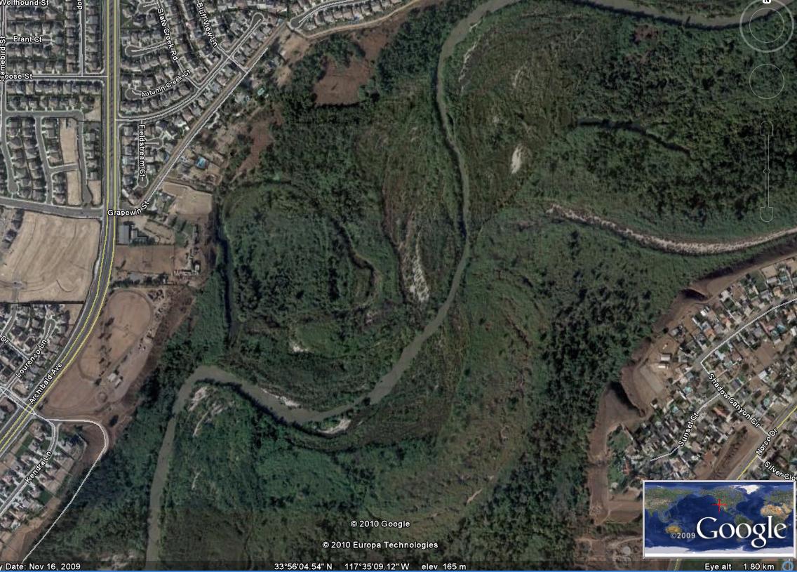 Bild 3: detalj av santa ana river