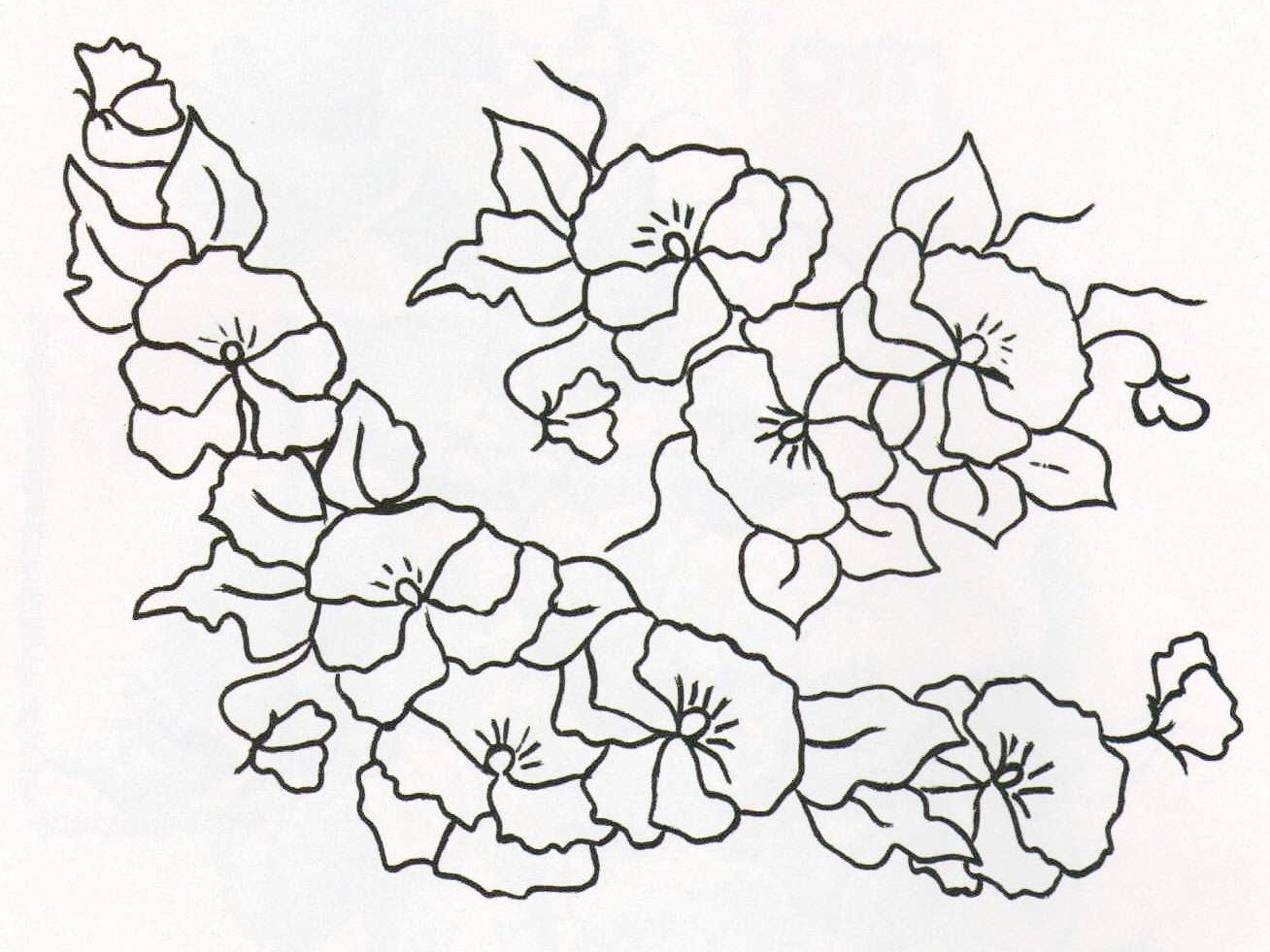 Pintura em Tecido Novos Riscos de Flores