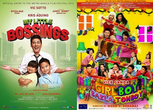 MMFF 2013 Final Gross and Box Office Results: Girl Boy Bakla Tomboy Short of P450k to Beat My Little Bossings as Top Grosser
