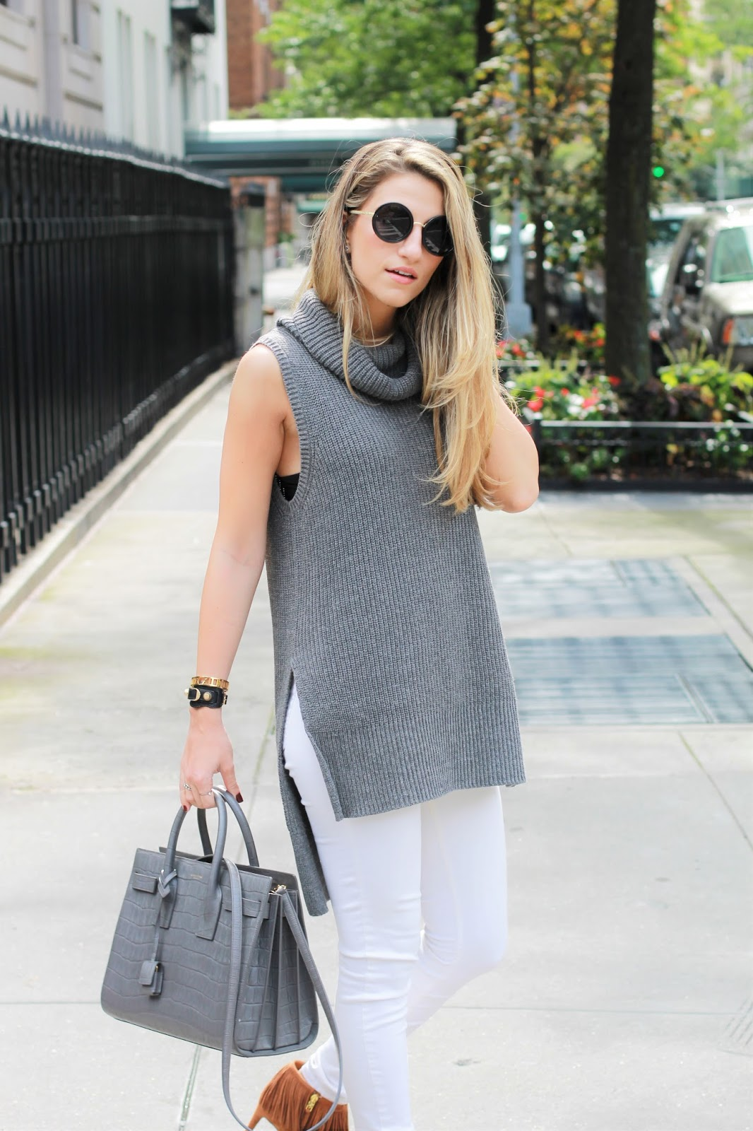 side slit sweater, grey forever21 sweater