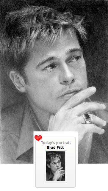 Brad-Pitt-desenho-à-grafite-Silvia-Reis