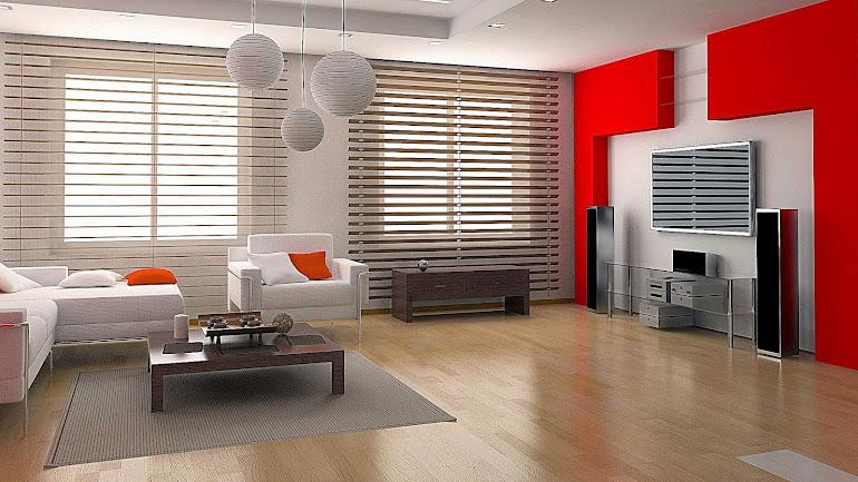 The futuristic design of a large room