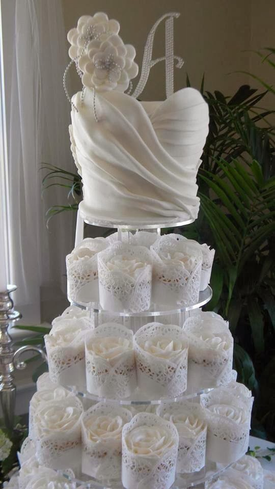 Wedding Gown Inspired Cake