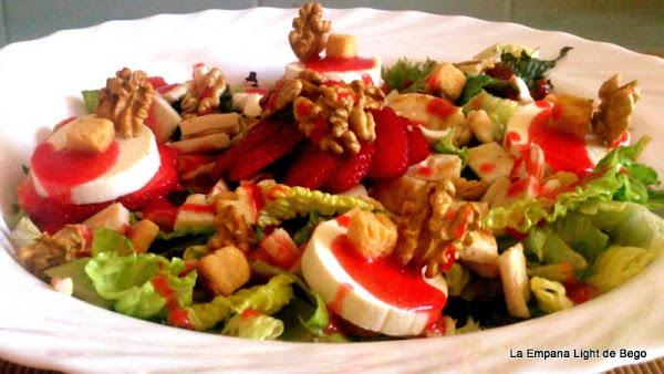 Ensalada de queso de cabra y fresas cocinar en casa es Cocinar queso de cabra