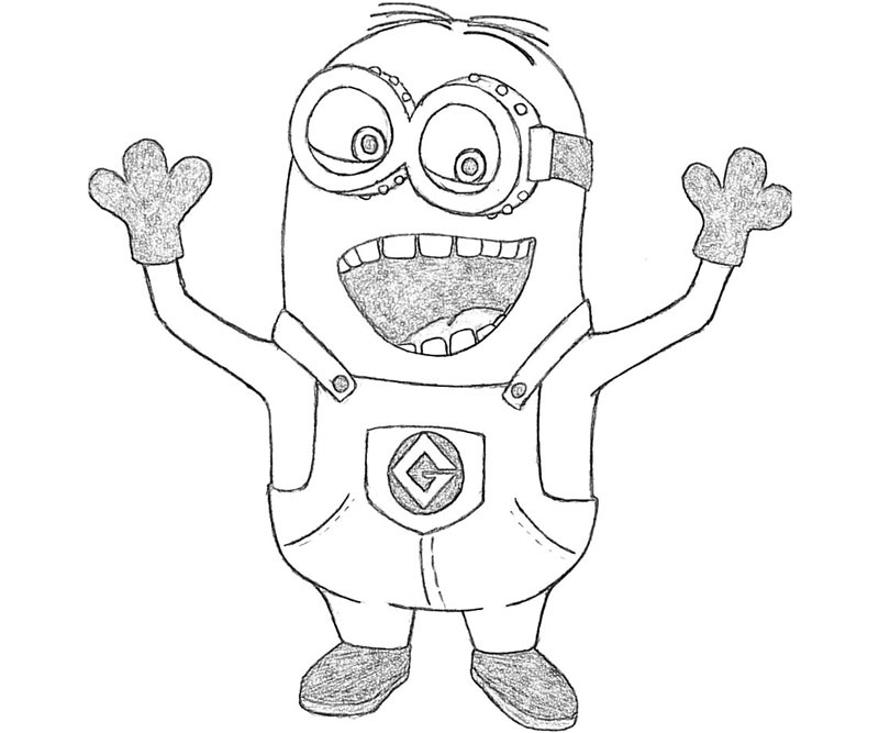 #5 Despicable Me 2 Coloring Page