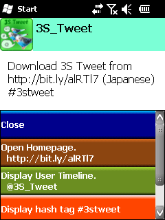 3S TWEET app for windows phone