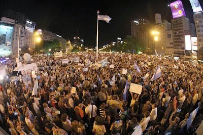 marcha 8n ciudad de Buenos Aires -Cacerolazo
