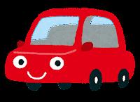 車のキャラクターのイラスト(赤)
