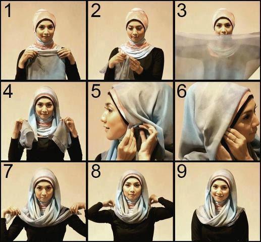 Cara Memakai Hijab Paris Segi Empat Simple