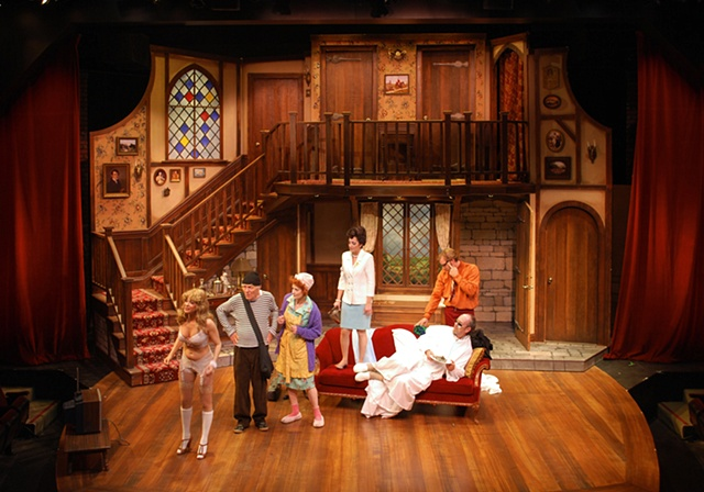 Drama he wrote farce part 2 noises off for Farcical plays