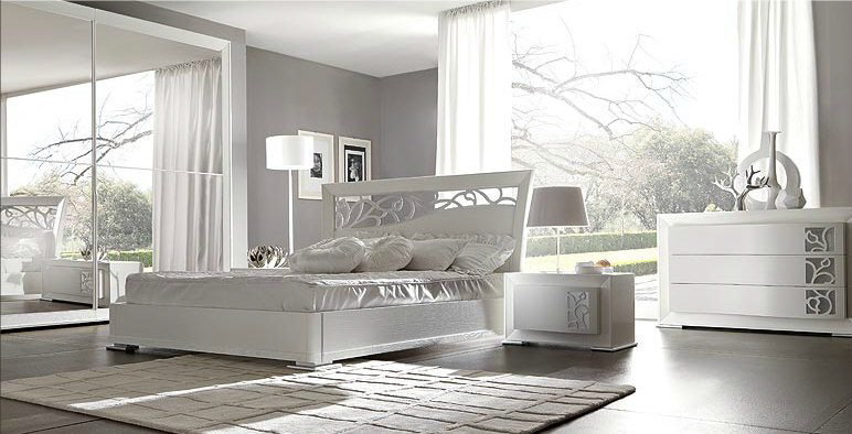Dormitorio color blanco dormitorios con estilo for Dormitorio blanco