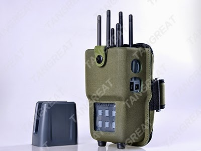 Anti jamming gps - RF Frequency High Power Signal Jammer , Remote Control Signal Blocker Long Life Time
