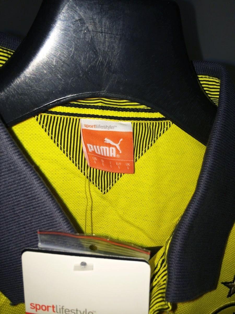2014-15 Borussia Dortmund Puma Polo Shirt (Yellow)