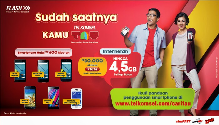 Paket Telkomsel Android United (TAU) 2015