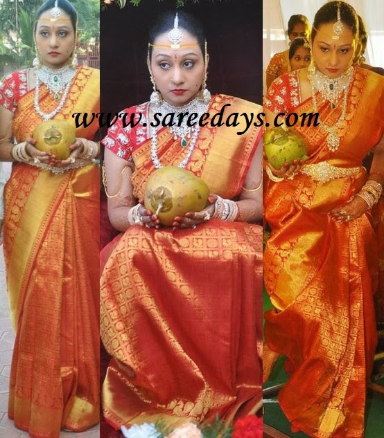 Latest saree designs beautiful south indian bridal silk saree beautiful south indian bridal silk saree altavistaventures Images