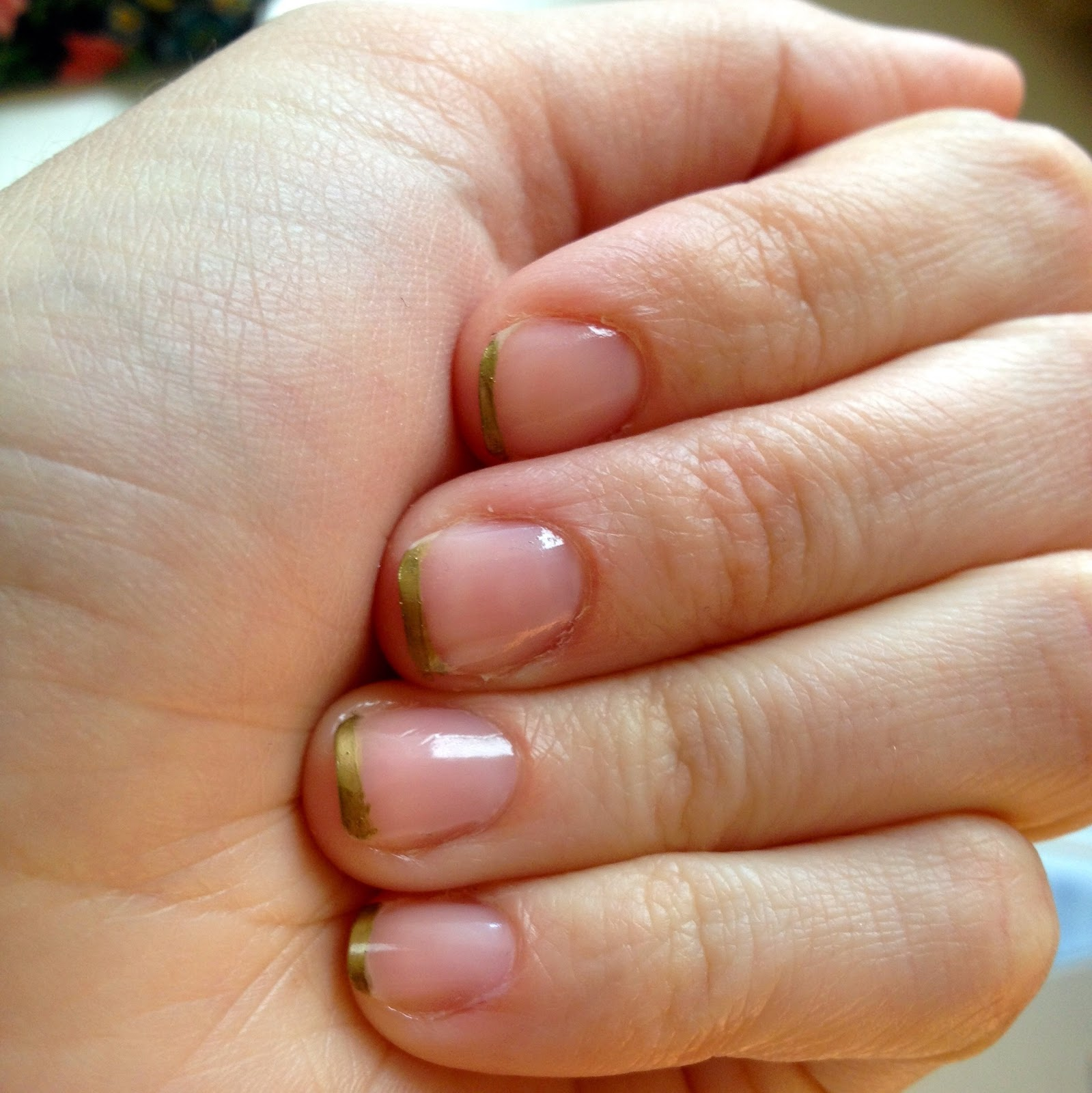 Emma Courtney Gold Tip Nail How To
