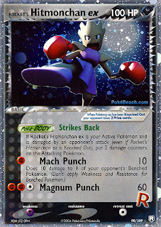 Rocket's Hitmonchan EX Team Rocket Returns Pokemon Card Set