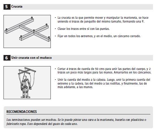 como hacer marionetas paso 4