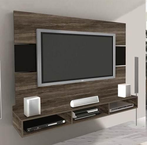 Salas com tv led v rias id ias de design - Table de tv led ...